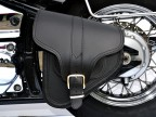 (B4) Leather Swingarm Single Side Pannier Saddle Bag for Harley-Davidson Softail